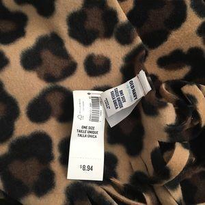 Old Navy Fleece Cheetah Print Scarf